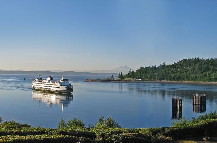 Ferry arriving at Bainbridge Island
