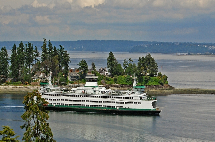View of Ferry from Bill Point neighborhood
