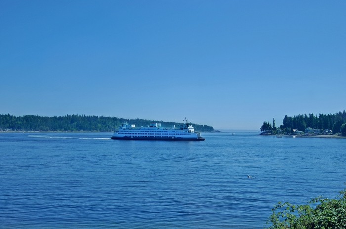 View of the Bremerton Ferry from Point White